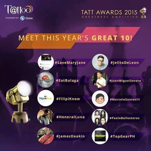 Tatt Awards 2015