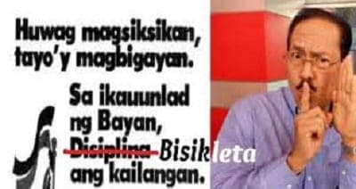 "Ariel Ureta and his ""bisikleta"" joke"