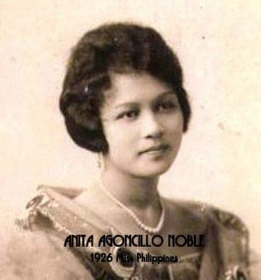 anita agoncillo noble first miss philippines