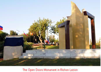 Open-Doors-monument-in-Rishon-Lezion-Memorial-Park1