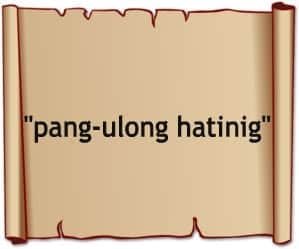 pang ulong hatinig + rare filipino words