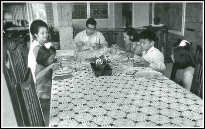 Cory Aquino and family
