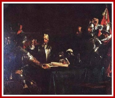 El Pacto de Sangre or the Blood Compact by Juan Luna (1886)
