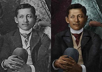 Jose Rizal colored photo