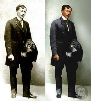 Jose Rizal colorized history