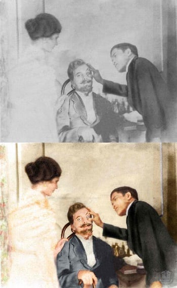 Jose Rizal with patient colored photo