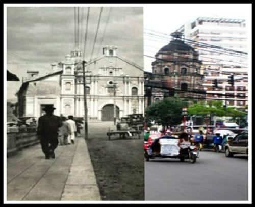 Binondo Church then and now photo