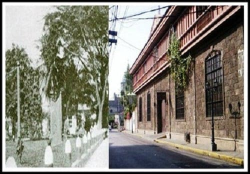 Calle Real del Palacio (General Luna Street) then and now photo