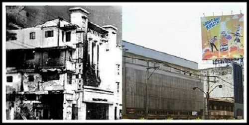Life Theater (now Villonco Building) then and now photo