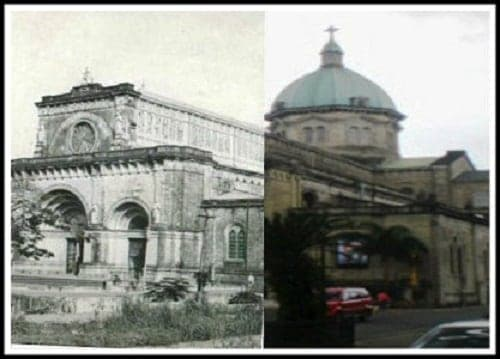 Manila Cathedral then and now photo