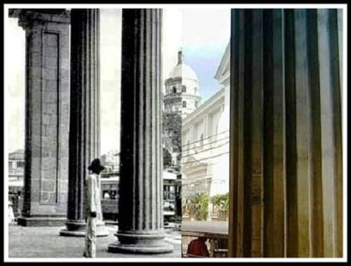 Monte De Piedad Building (Now Prudential Bank Building) then and now photo