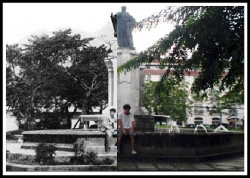 Plaza de Roma, Intramuros, Manila then and now photo