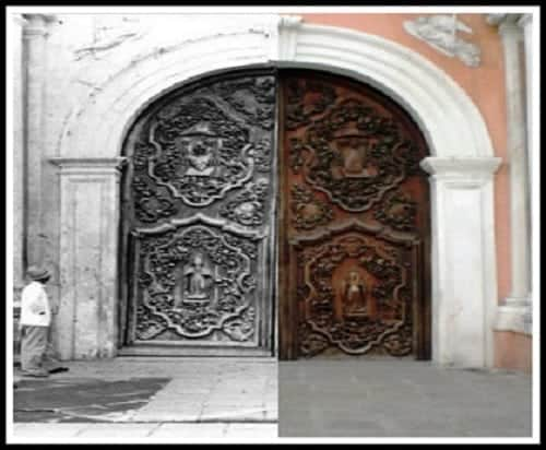 San Agustin Church Intramuros Manila then and now photo