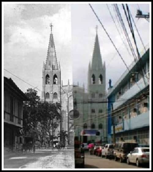 San Sebastian Church Quiapo Manila then and now photos