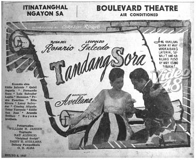 Tandang Sora 1947 movie