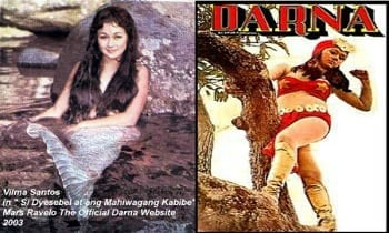 Vilma Santos as Darna and Dyesebel