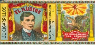 jose rizal in cigarette wrappers