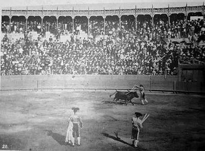 Bullfighting in Manila, 1890s.