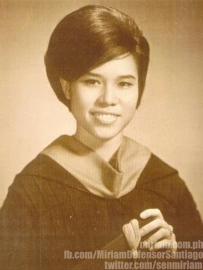 miriam defensor santiago UP Law graduation picture