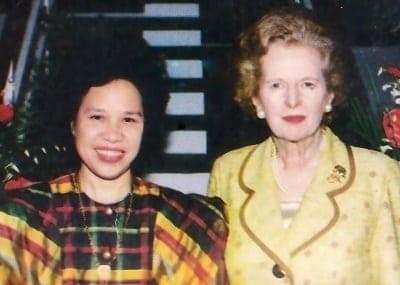 miriam defensor santiago with margaret thatcher