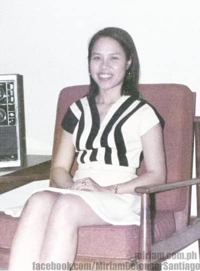 miriam defensor santiago young