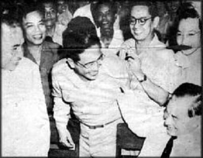 Chief Prosecutor Lorenzo M. Tañada and Jose P. Laurel