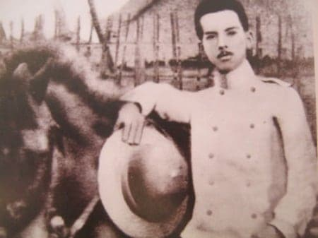 Manuel Quezon as a young officer in the Philippine Army