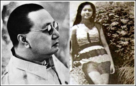 President Elpidio Quirino and teenaged photo of Imelda Marcos in Leyte