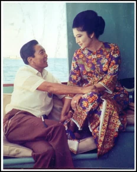 President Ferdinand Marcos with First Lady Imelda Marcos