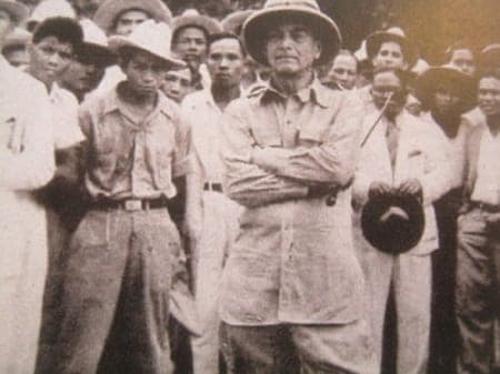 President Manuel L. Quezon during one of his inspection trips