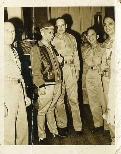 President Manuel L. Quezon pays a visit on United States Armed Forces in the Far East (USAFFE) Commander General Douglas MacArthur.