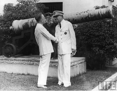 President Manuel Quezon and General Douglas MacArthur