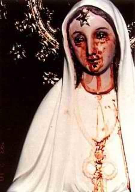 The Weeping Virgin Mary of Agoo, La Union