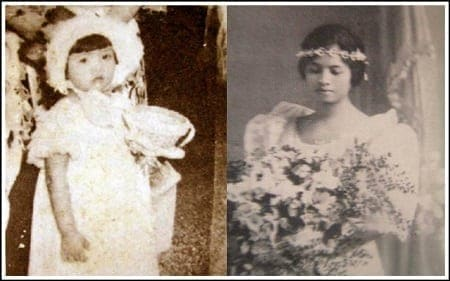 Young Imelda Marcos and Remedios Trinidad