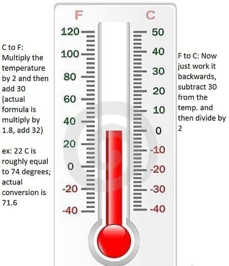 how to convert fahrenheit to celsius and vice versa