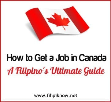 jobs in Canada for Filipinos