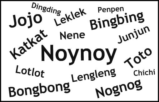 repetitive nicknames in the Philippines