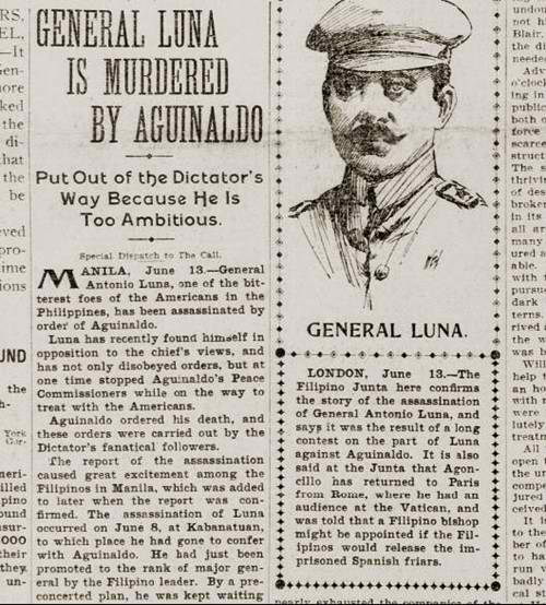 Antonio Luna assassination as featured by the San Francisco Call on June 14 1899