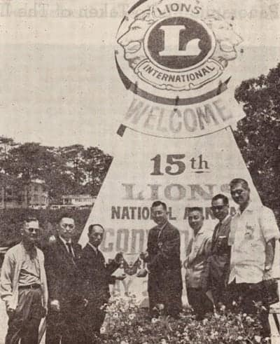 Baguio City Lions Club members during the Annual Lions Multiple District Convention