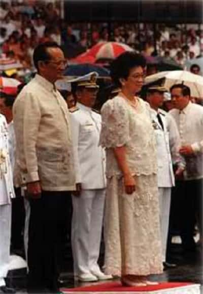 Cory Aquino and Fidel Ramos