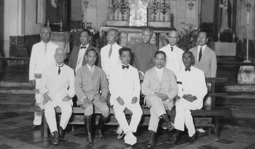 Emilio Aguinaldo and delegates to Malolos convention