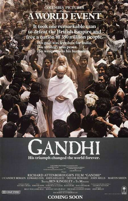 Gandhi 1982 movie poster