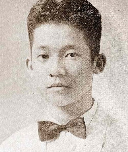 Ninoy Aquino's graduation picture from San Beda High School