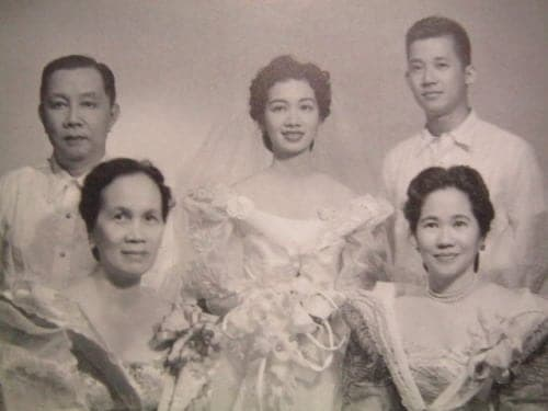 Ninoy and Cory Aquino wedding day