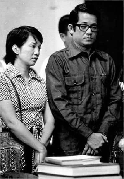 Ninoy and Cory during Ninoy's trial under Martial Law