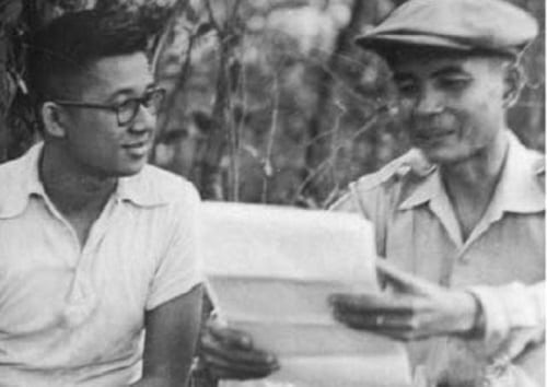 Ninoy negotiating for the surrender of Huk Supremo Luis Taruc in 1954