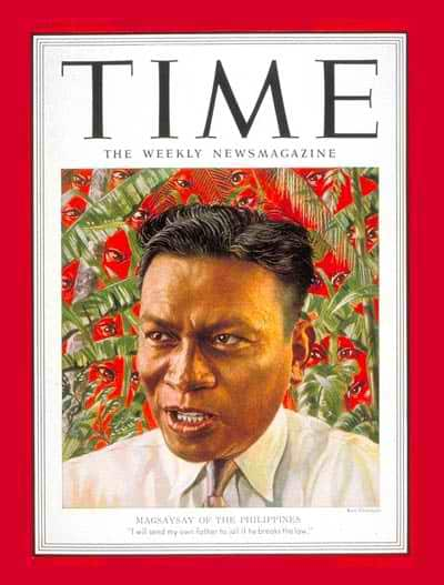 Ramon Magsaysay on the cover of TIME Magazine