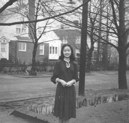 Young Cory Aquino as a student in United States