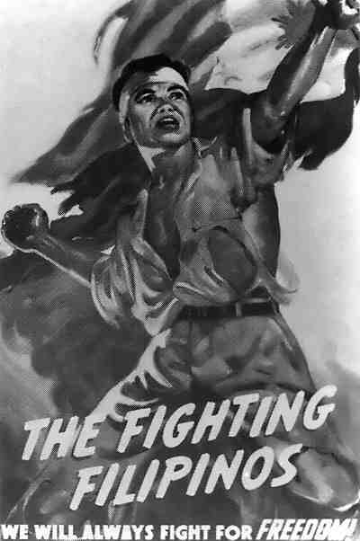 Propaganda poster depicting the Philippine resistance movement