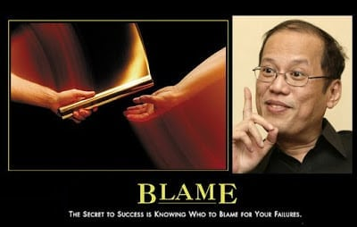 noynoy aquino blame game